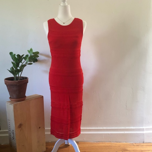 New York & Company Dresses & Skirts - Final  💲 ✂️ New York & Co. red knit midi dress
